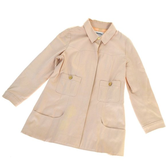 CHANEL Jackets & Blazers - CHANEL Button Jacket Shirt Tops Cotton Blended